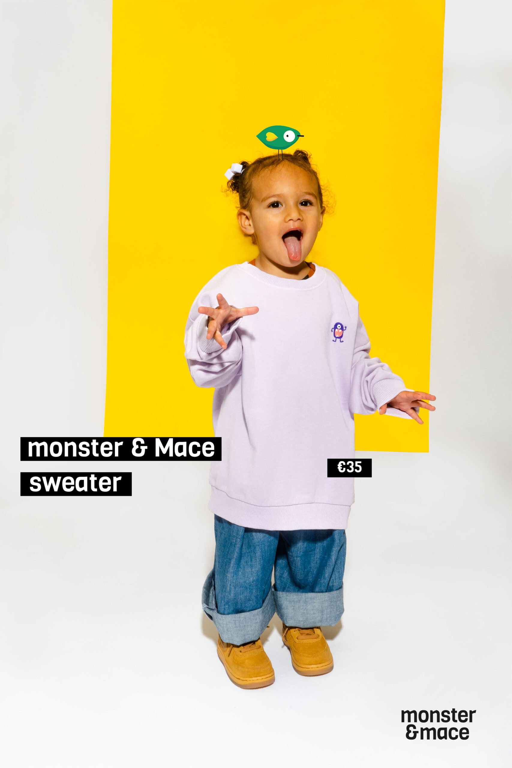 MONSTER&MACE BANNER SWEATER price